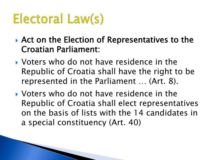 Electoral Law(s)