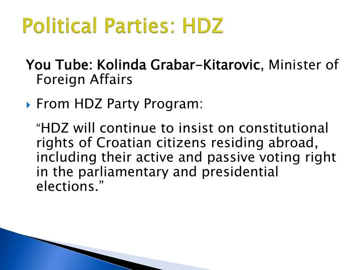 Political Parties: HDZ