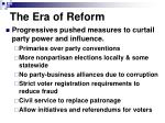 the era of reform