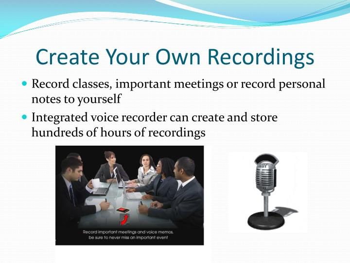 Create Your Own Recordings