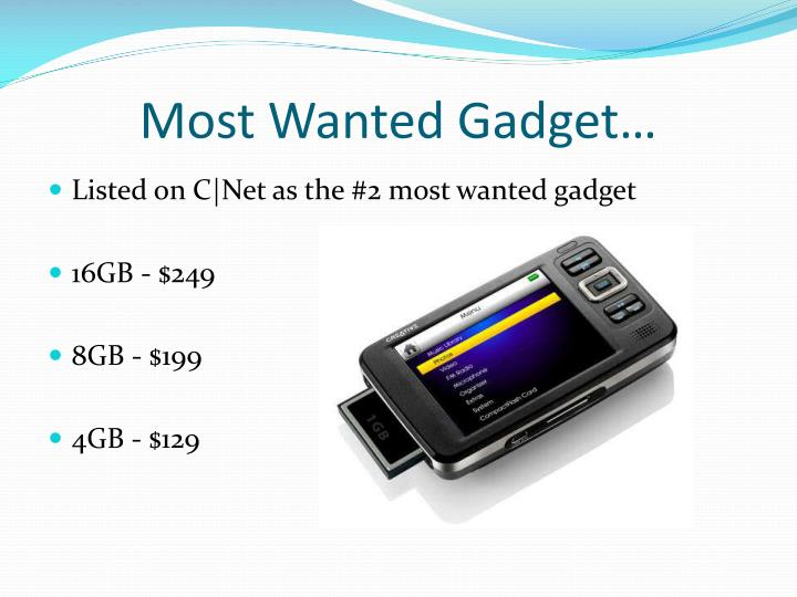 Most Wanted Gadget…