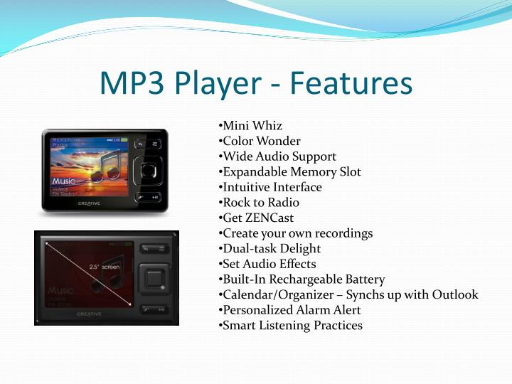 MP3 Player - Features