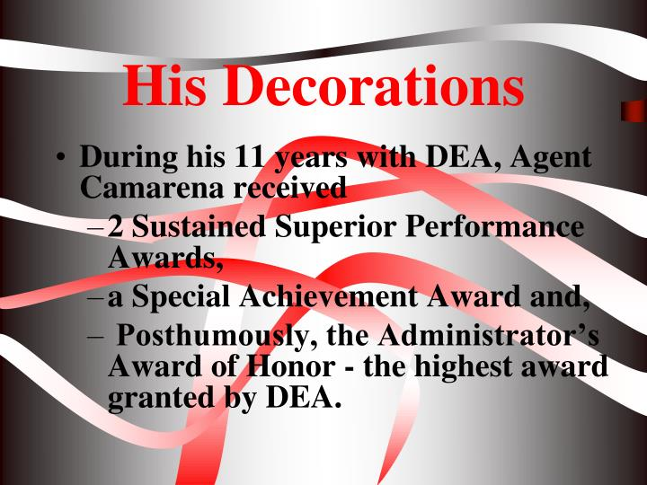 His Decorations