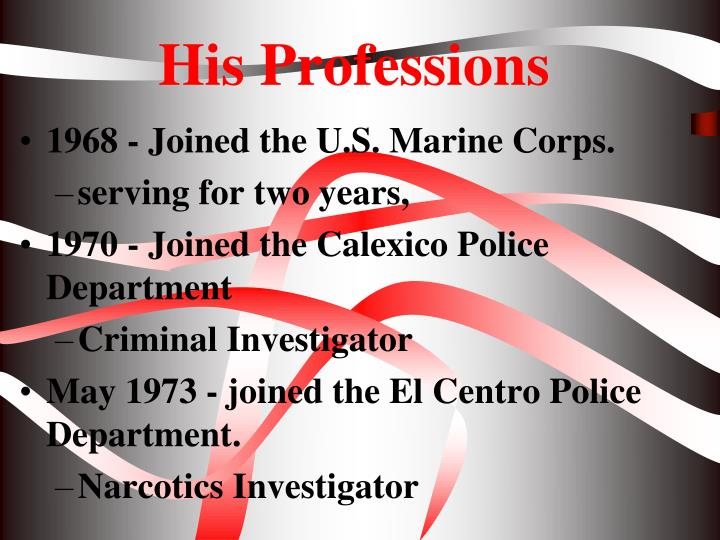 His Professions