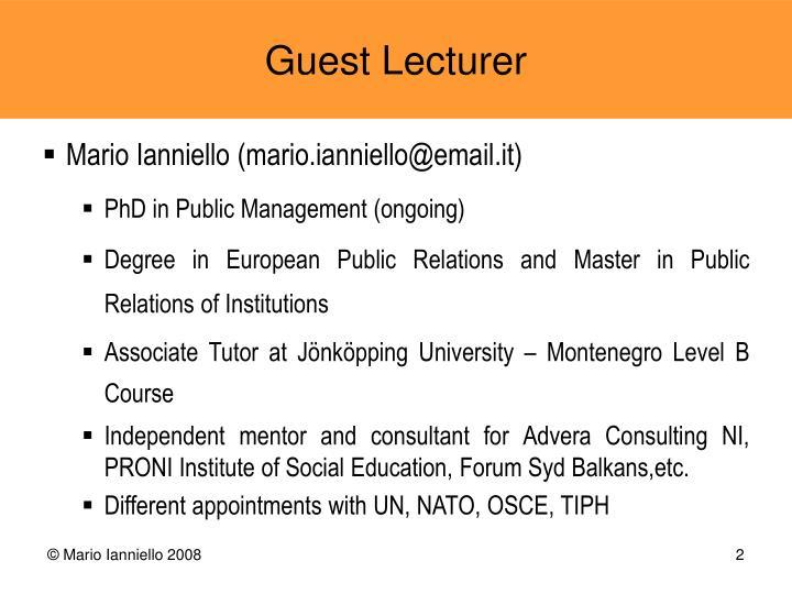 Mario Ianniello (mario.ianniello@email.it)