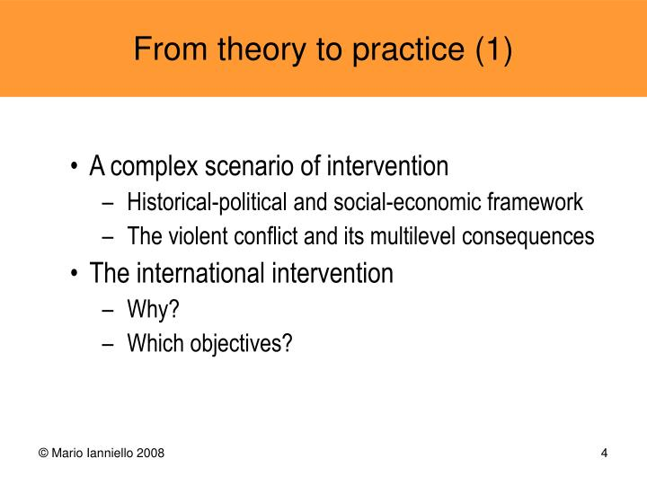 A complex scenario of intervention