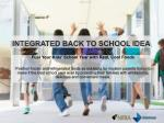 integrated back to school idea