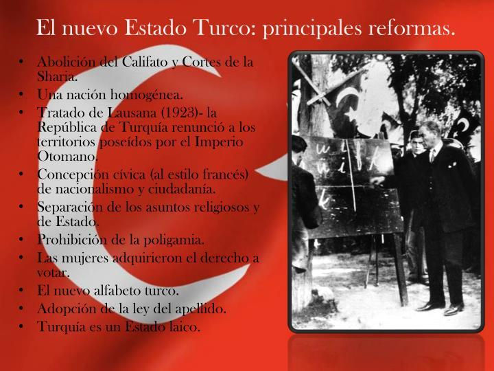 El nuevo Estado Turco: principales reformas.