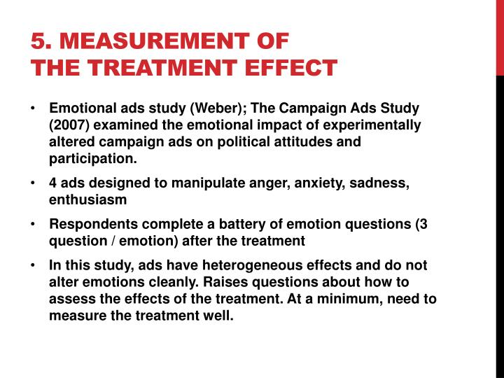 5. Measurement of  the Treatment Effect