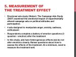 5 measurement of the treatment effect