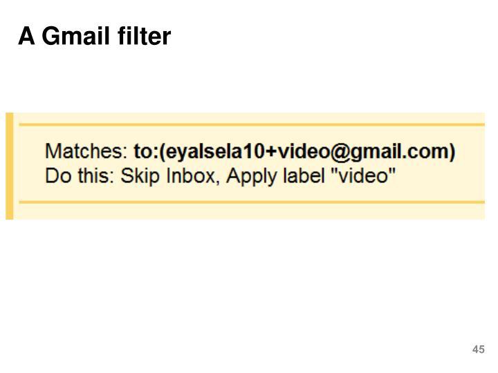 A Gmail filter