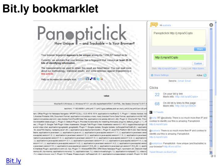 Bit.ly bookmarklet