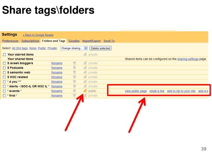 Share tags\folders
