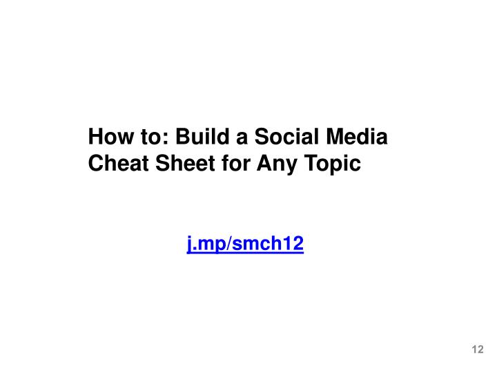 How to: Build a Social Media Cheat Sheet for Any Topic