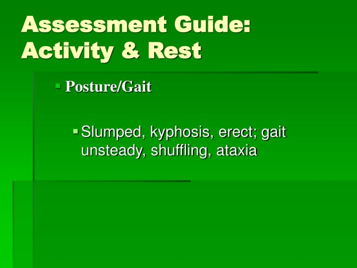 Assessment Guide: Activity & Rest