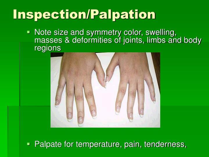 Inspection/Palpation