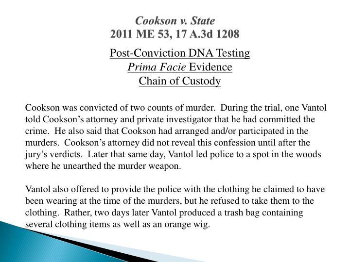 Cookson v. State