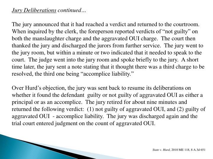 Jury Deliberations