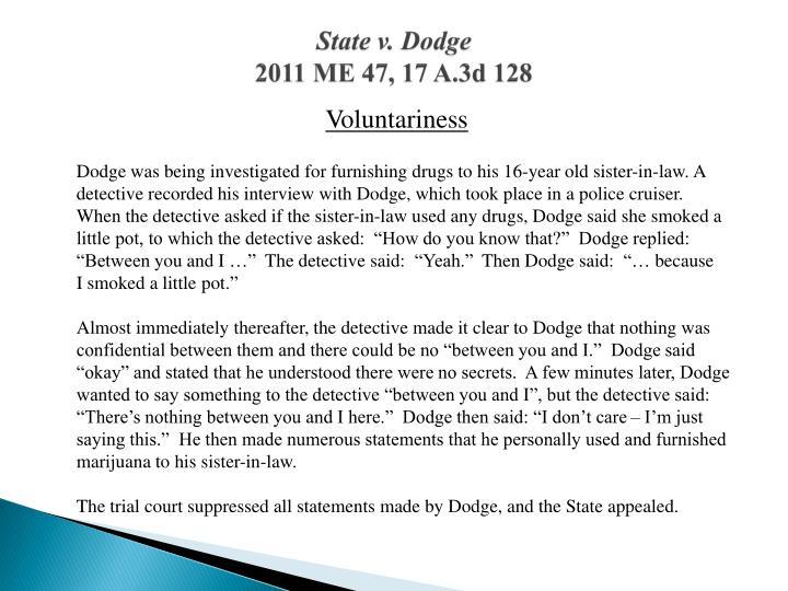 State v. Dodge