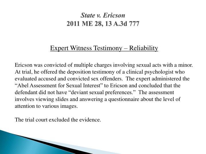 State v. Ericson