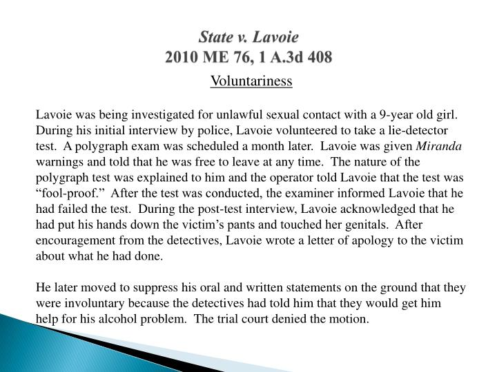 State v. Lavoie