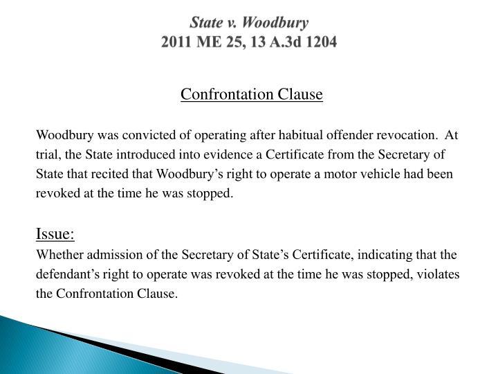 State v. Woodbury