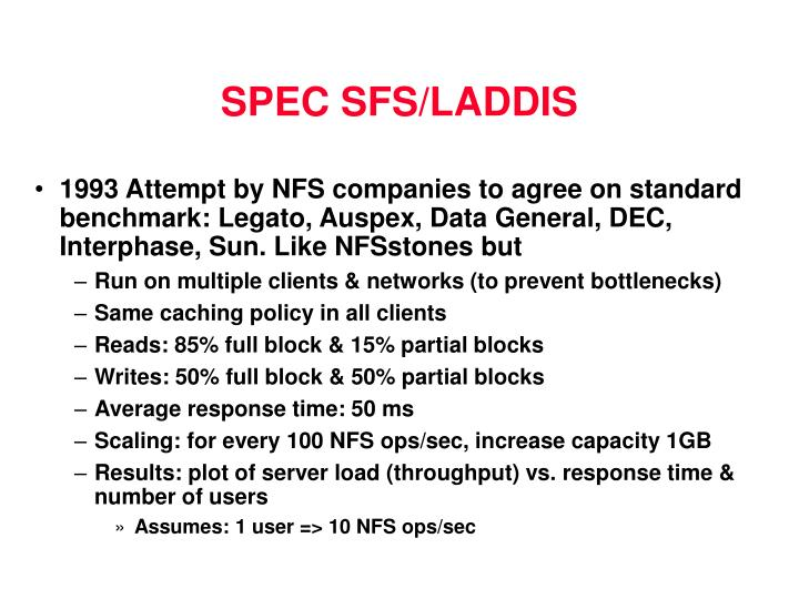 SPEC SFS/LADDIS