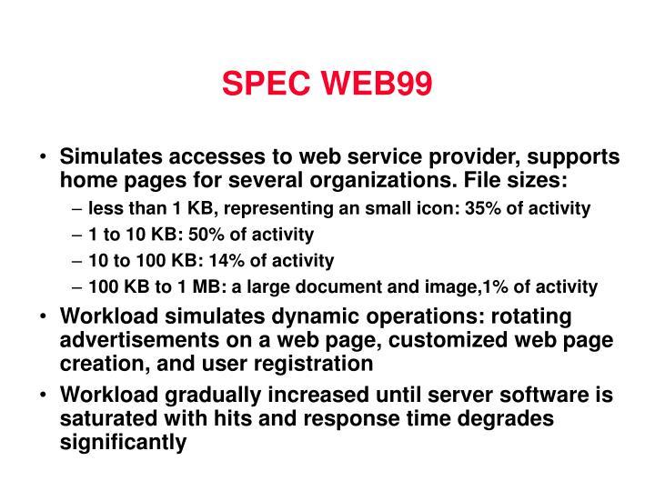 SPEC WEB99