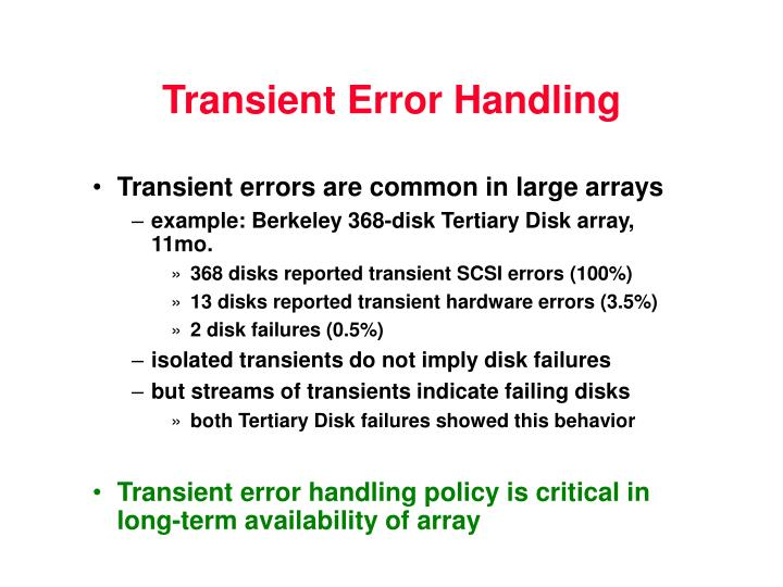 Transient Error Handling