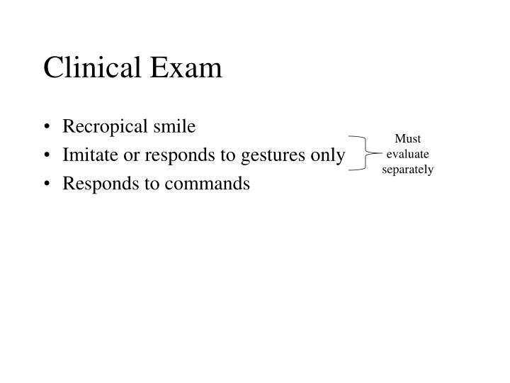 Clinical Exam