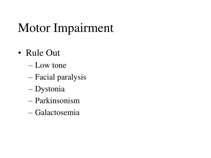 Motor Impairment