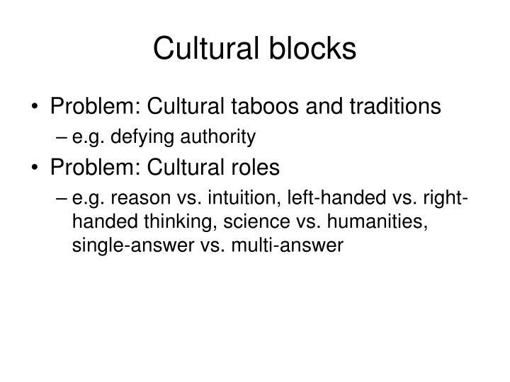 Cultural blocks