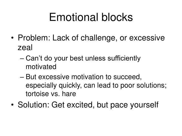 Emotional blocks