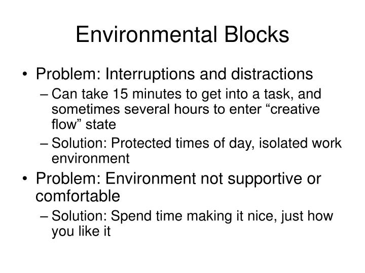 Environmental Blocks