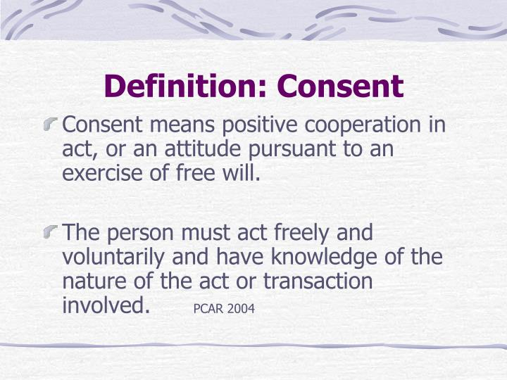 Definition: Consent