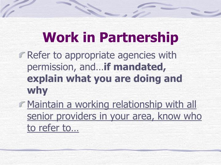 Work in Partnership