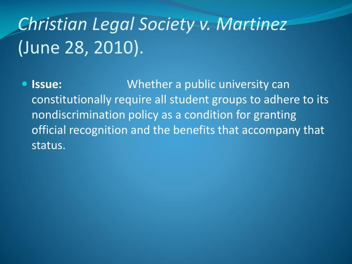 Christian Legal Society v.