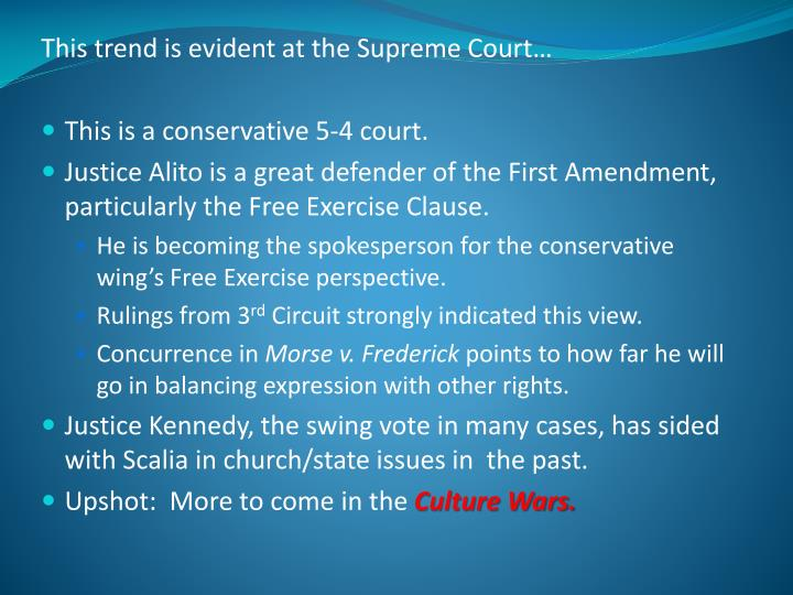 This trend is evident at the Supreme Court…