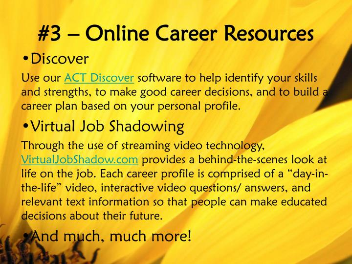#3 – Online Career Resources