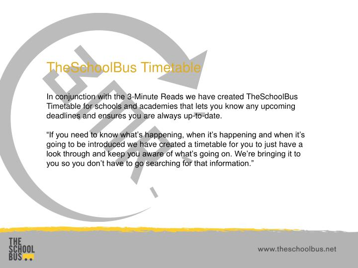 TheSchoolBus Timetable