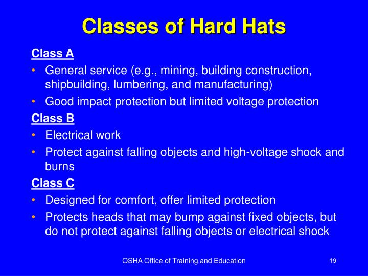 Classes of Hard Hats