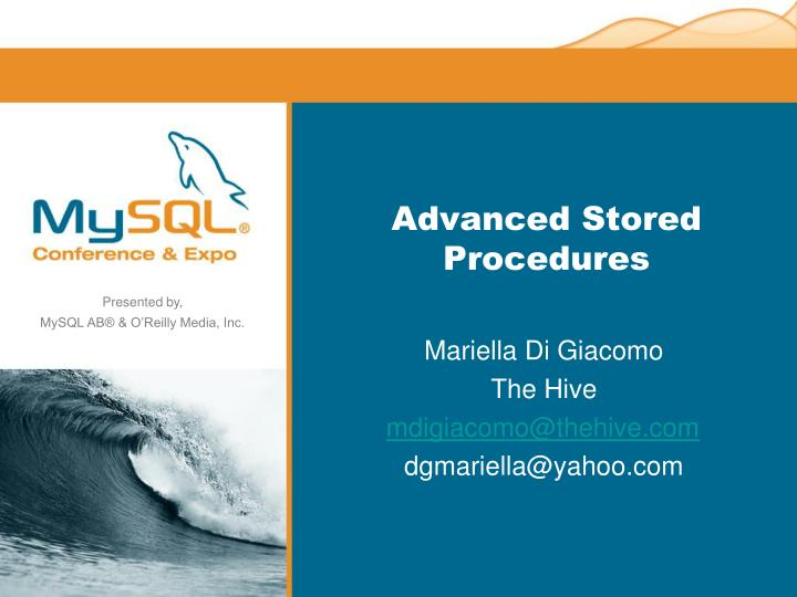 Advanced stored procedures
