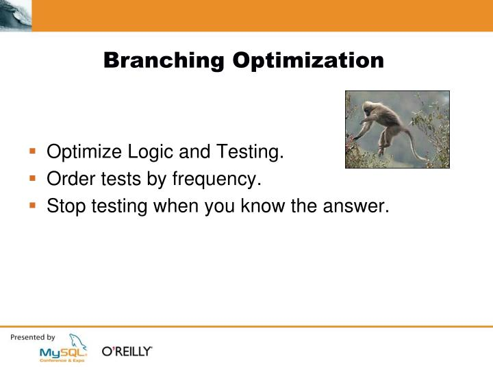 Branching Optimization