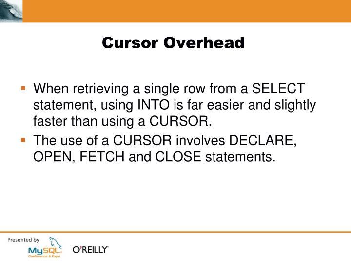Cursor Overhead