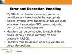 error and exception handling1