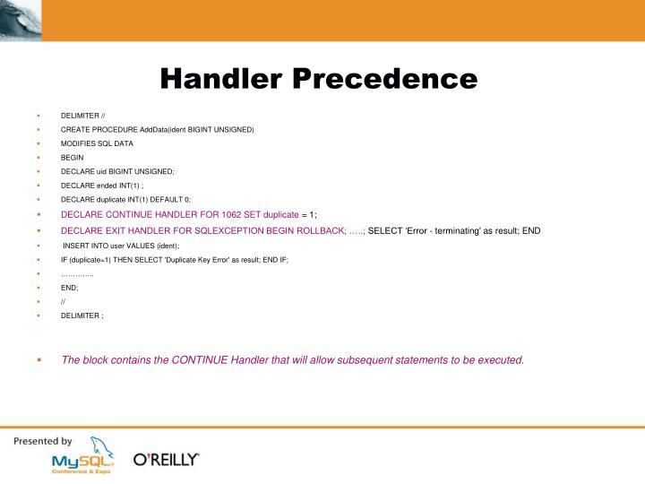 Handler Precedence