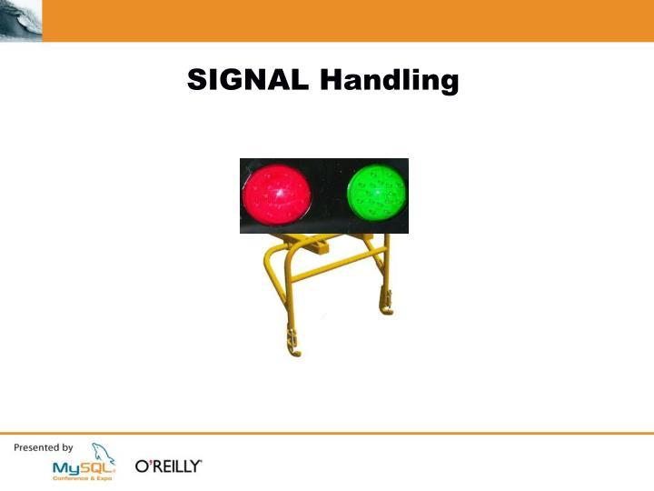 SIGNAL Handling