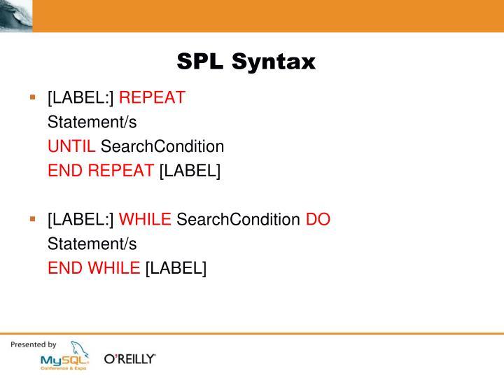 SPL Syntax