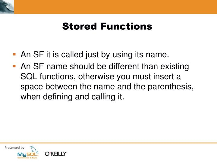Stored Functions
