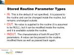 stored routine parameter types